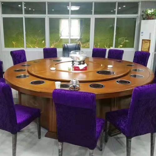 酒店电磁炉电动餐桌火锅桌生产规格70