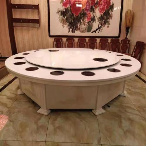酒店电动餐桌大圆桌火锅桌价格76