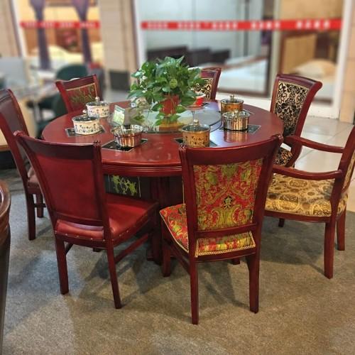 厂家直销酒店手动餐桌电磁炉火锅桌80