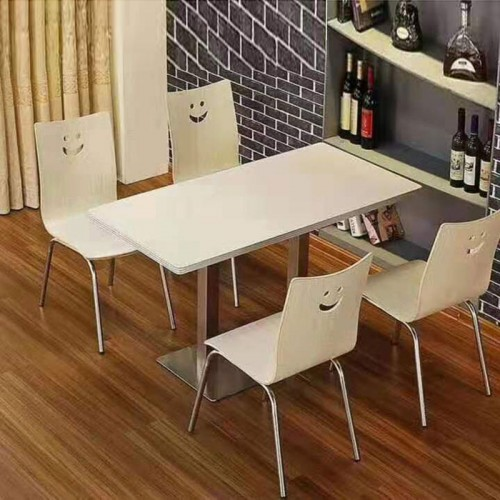 小吃店 面馆奶茶汉堡店餐桌椅12