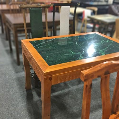 经济型快餐桌仿古长方形餐桌椅42