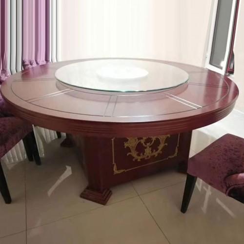 促销酒店圆桌带转盘餐桌 54