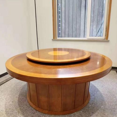 酒店餐桌椅定制现代转盘圆桌57
