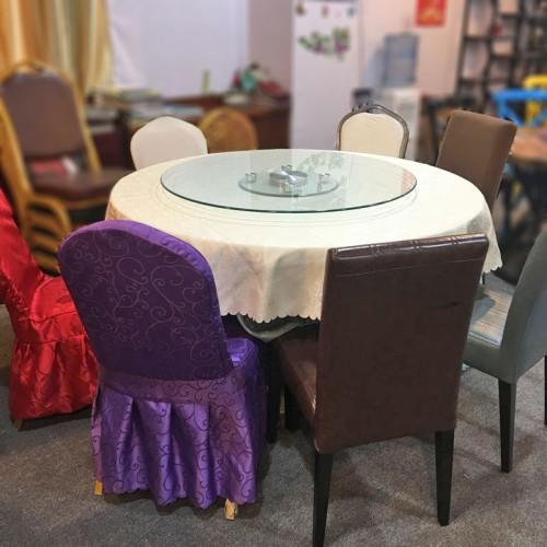 工厂直销酒店转盘圆桌餐桌椅58