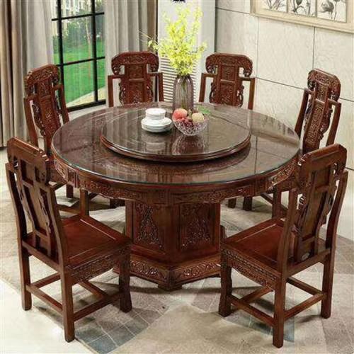 酒店包房明清古典餐桌椅定制尺寸61
