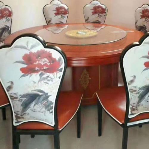 新中式酒店餐椅宴会包房餐桌62