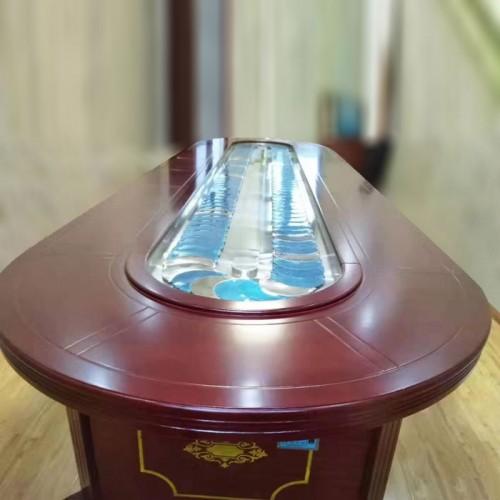 酒店电动传送带转盘长餐桌定制23