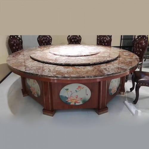 生产批发酒店包厢中式餐桌大圆桌28