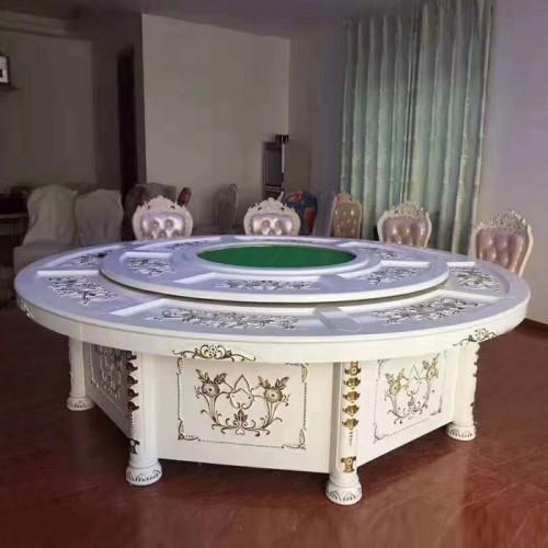 豪华酒店全雕电动大圆桌采购直销40