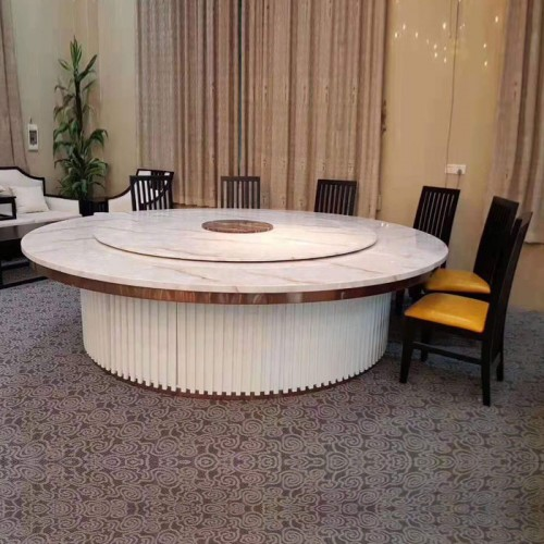 高端酒店餐桌电动大圆桌供应商49
