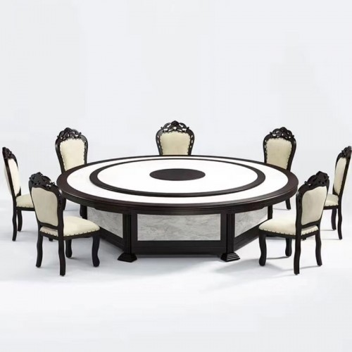 酒店包厢电动餐桌转盘圆桌采购市场61