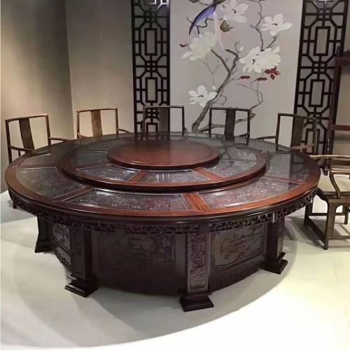 酒店定制餐桌电动大转盘圆餐台67