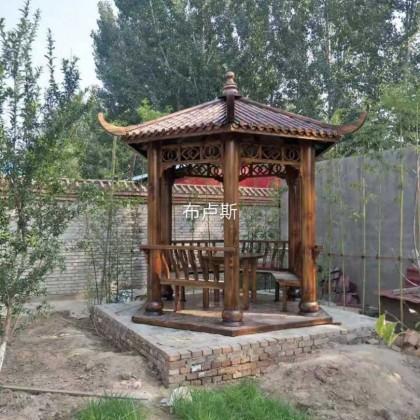 香河户外六角凉亭中式简易家具宣传栏葡萄架民宿花园庭院设计