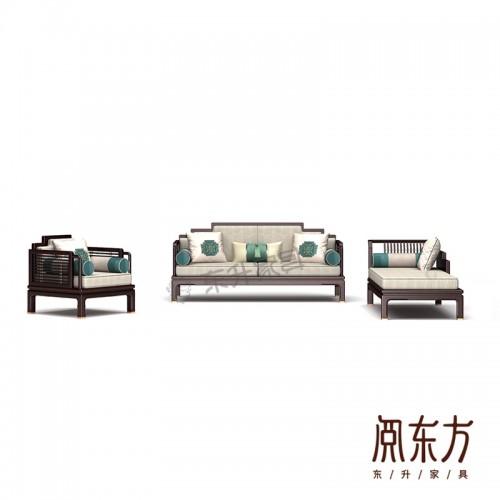 大小户型客厅新中式组合沙发 03