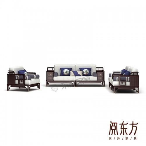 香河厂家专业定制新中式软体沙发 04