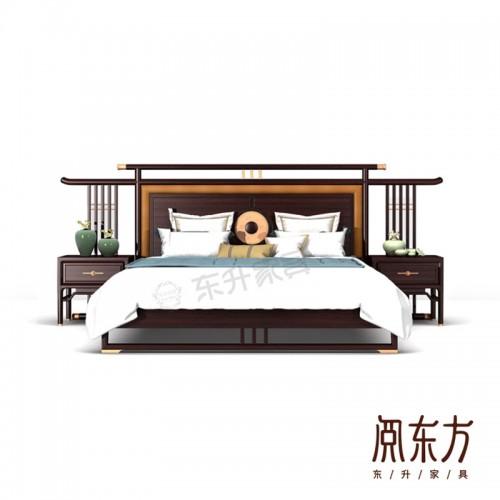 厂家直销新中式卧室双人床婚床 07