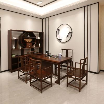 中式成套实木茶桌椅厂家直销05