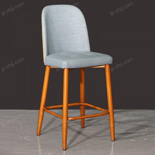 高脚靠背酒吧椅 酒店餐椅