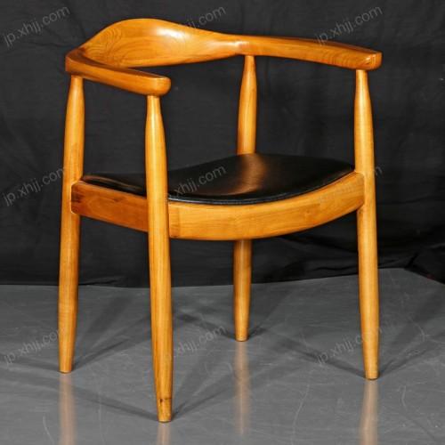 酒店实木扶手椅 休闲椅