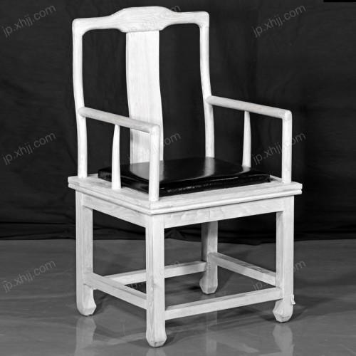 白色实木简约酒店椅