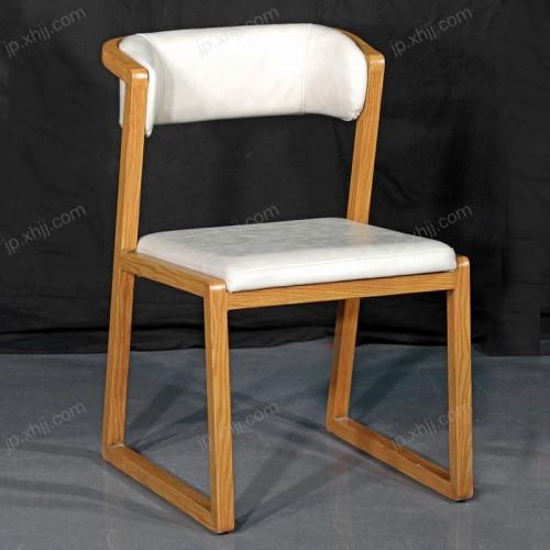 香河现代时尚简约实木餐椅