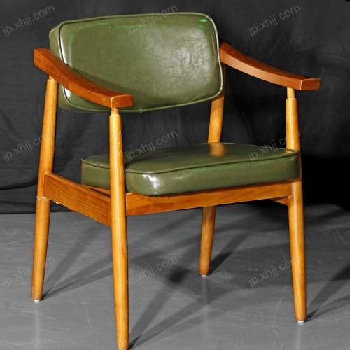 实木扶手单人酒店椅