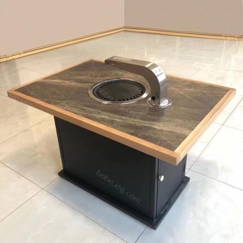 火锅桌电磁炉一体商用无烟烤肉桌 01