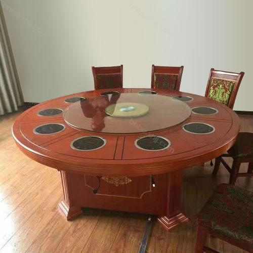 酒店大圆桌电磁炉火锅餐台03