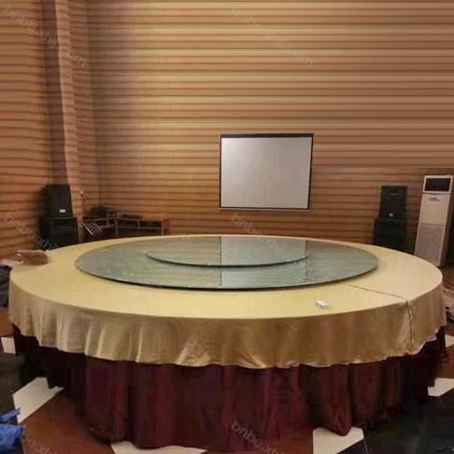 酒店餐厅大圆桌子旋转宴会大餐台价格05