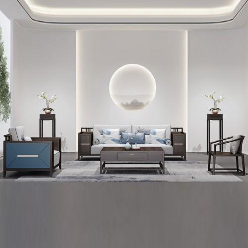 新中式客厅沙发 实木组合沙发 36#