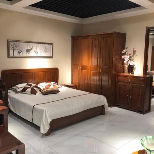 实木套房家具生产厂家 中式双人床价格 04#