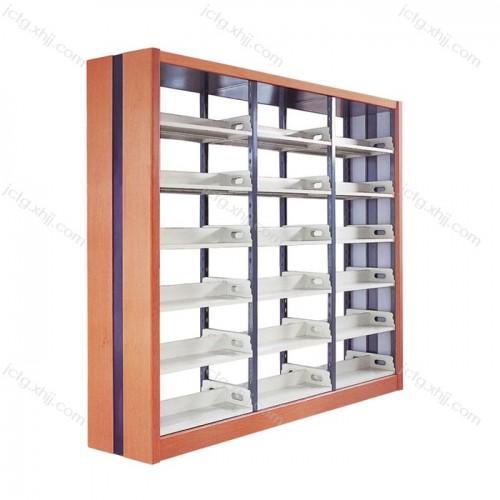钢制学校图书馆阅览室木侧板书架 01