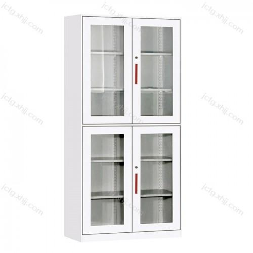 上下玻璃平开柜 薄边文件柜档案柜11