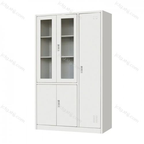 钢制文件柜平开书柜带更衣柜08