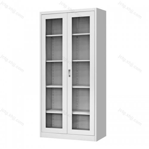 办公家具通体玻璃开门柜钢制文件柜12
