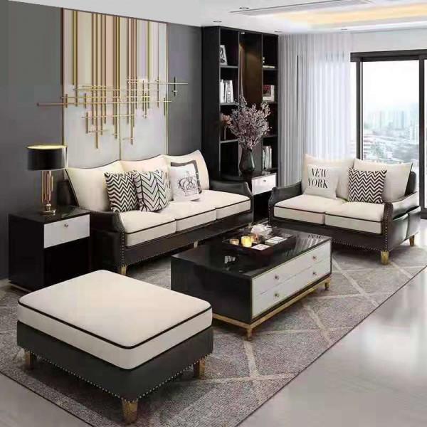 高档客厅意式组合沙发