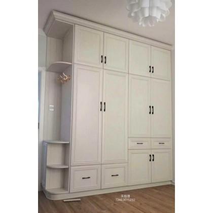 全铝家具 厂家直销全铝平开门储物衣柜