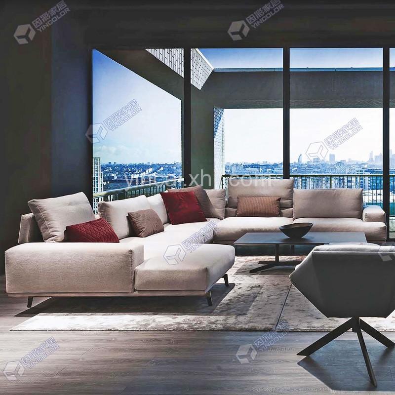轻奢舒适客厅布艺组合沙发定制采购37#