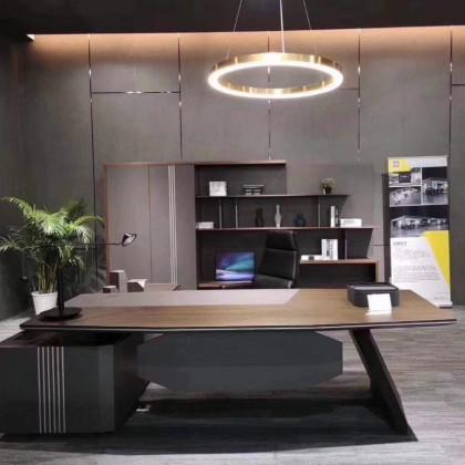总裁办公室班台书柜