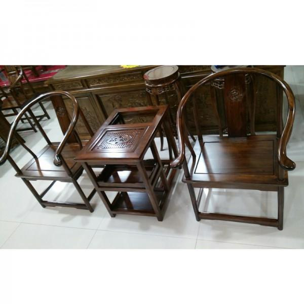 现代中式老榆木茶台椅