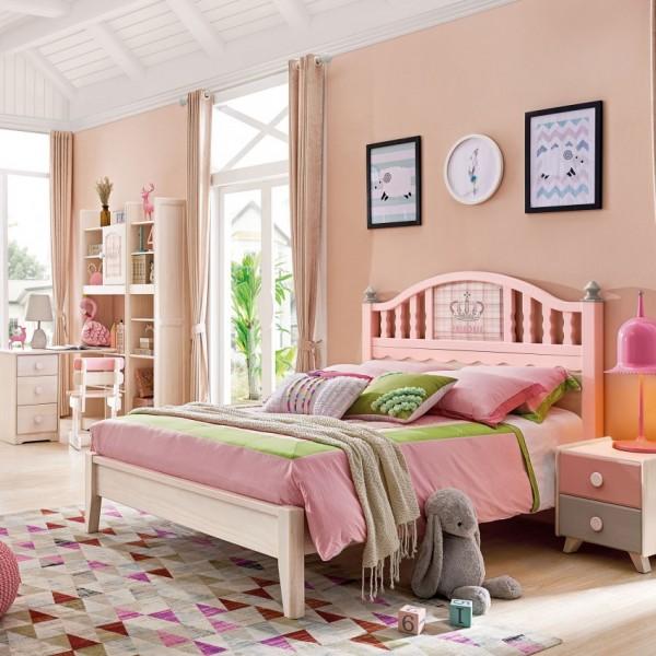 我的e家现代北欧风格粉色女孩儿童套房DA-05
