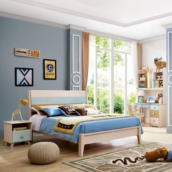 我的e家现代北欧风格蓝色男孩儿童套房DA-06
