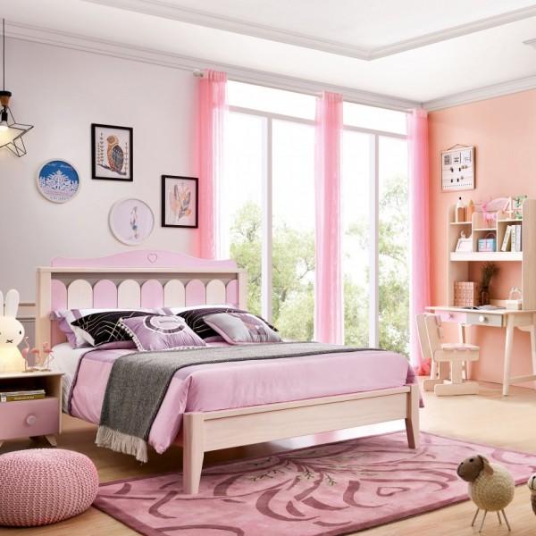 我的e家现代北欧风格粉紫色女孩儿童套房DA-07