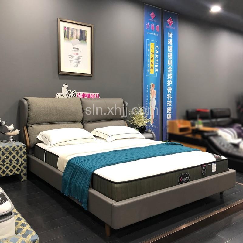 意式布艺床现代简约双人床采购BYC-08