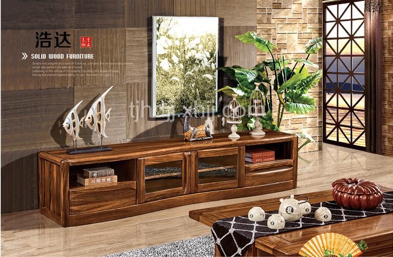 天津浩达乌金木家具厂家教您如何保养现代中式乌金木客厅电视柜