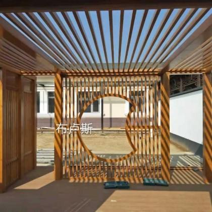 香河布卢斯中式门厅厂家直销葡萄架芬兰木实木户外地板塑木
