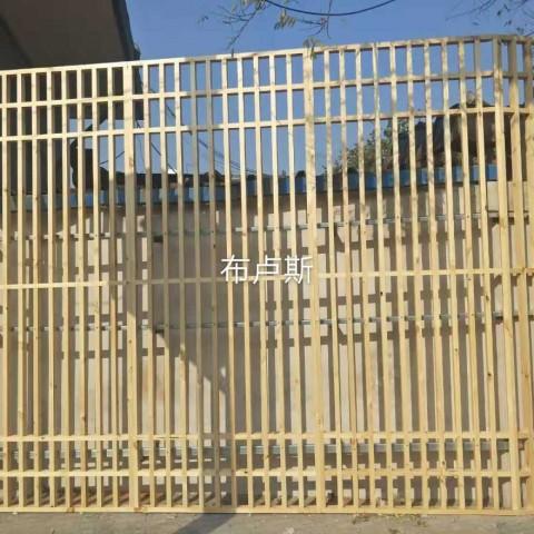 香河布卢斯户外中式隔断实木围栏别墅庭院设计芬兰木小桥壳定制