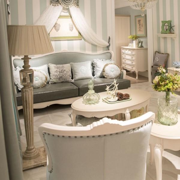 豆丁新贵族儿童实木家具沙发茶几休闲椅