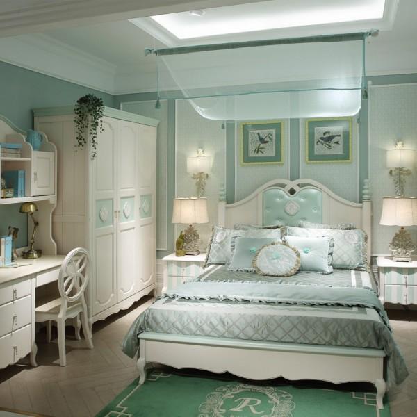 豆丁新贵族实木家具绿色儿童套房家具