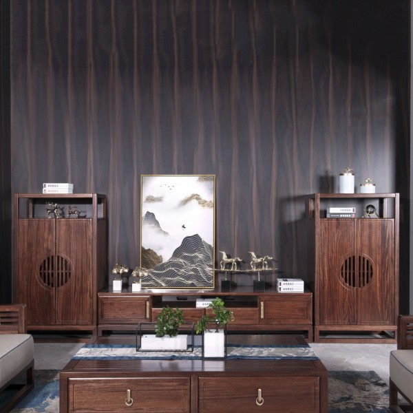 遇见新中式实木家具客厅影视柜组合MTD12#